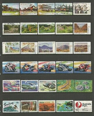 90 Australian stamps including self adhesive used