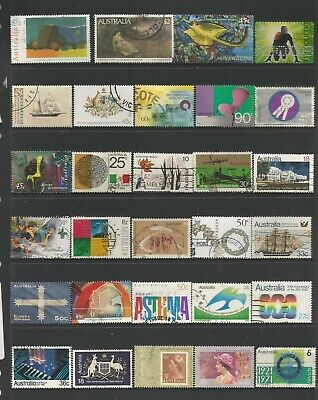 94 Australian stamps including self adhesive used