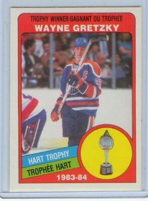 Wayne Gretzky 1984-85 OPC O-Pee-Chee HART TROPHY #374 FREE shipping NM/MT to MT