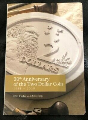 30th Anniversary of the $2 Two Dollar Coin RAM Release 12 Coin Unc Folder #2