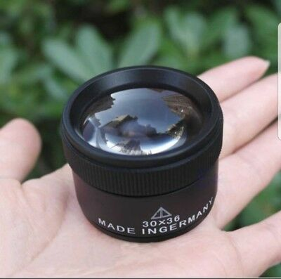 coin magnifier loupe 30 x 36 for penny halfpenny coin #5