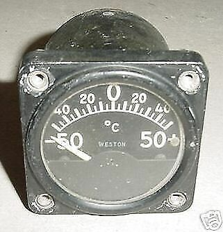 WWII Aircraft Curtiss P-36 Hawk Temperature Indicator, 65-Y1