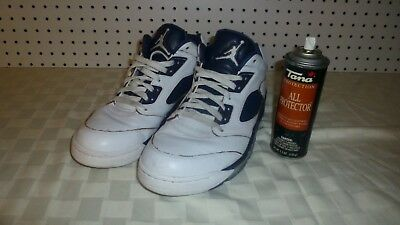 57765bca69e448 Nike Air Jordan 5 V Retro Low Dunk From Above White Navy Size 11   819171