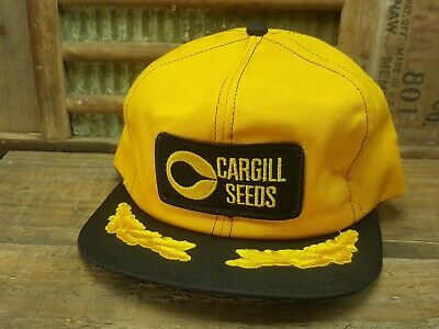 aa8ed873bcb Vintage CARGILL SEEDS Snapback Trucker Hat Cap Patch K Brand Made In USA