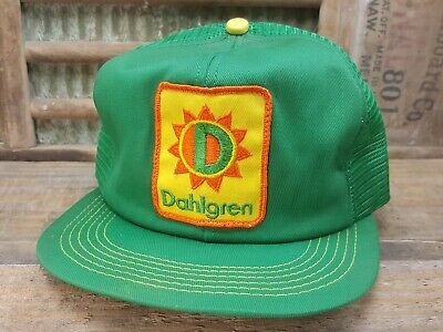 578ff72a3bb Vintage DAHLGREN Mesh Snapback Trucker Hat Cap Patch K Brand Made In USA