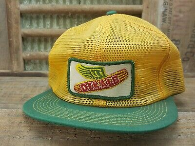2a729a6a726 Vintage DEKALB Mesh Snapback Trucker Hat Cap Patch K Brand Made In USA