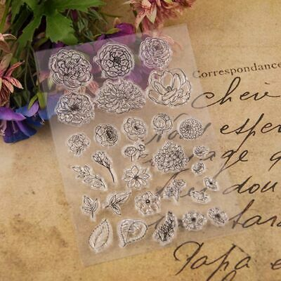 Flower Silicone Clear Seal Stamp DIY Scrapbooking Embossing Photo Album Cards