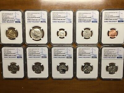 2017 S US Mint 225th Anniversary Enhanced Uncirculated 10-Coin set NGC SP70 ER