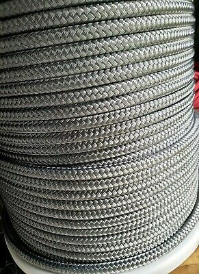 50m X 12mm Blue DOUBLE BRAID DYNEEMA® CORE marine yacht Halyard rope Tens:7100kg