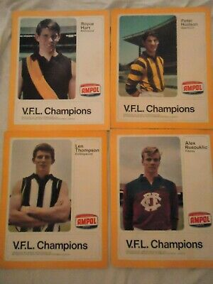 10 x 1968 Ampol VFL Champions, 45 rpm records. Excellent Condition.
