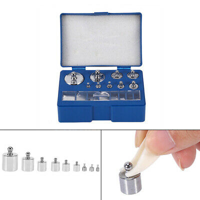 17Pcs Calibration Weight Kit 1,2,5,10,20,50,100g 10,20,50,100,200,500mg Scale