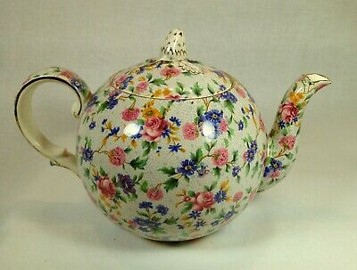Royal Winton Grimwades Teapot Old Cottage Chintz Floral Pattern - Free Shipping