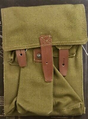 Unissued Surplus Romanian Military 3-Cell Mag Pouch 7.62X39 5.45X39