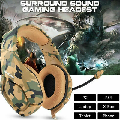 ONIKUMA Stereo Gaming Headset Headphones MIC Bass For PC Mac PS4 Xbox One Game