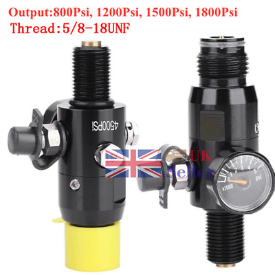 New 5/8-18UNF Thread Paintball Valve Regulator Input 4500psi HPA Air Tank Black