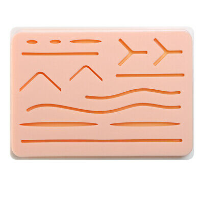 Silicone Suture Training Pad Medical Surgical Incision Practice Human Skin Model