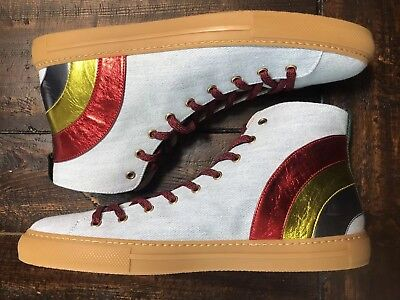 6b5c8d4baf0 Gucci Angry Cat Rainbow High Top Sneakers NIB SIZE 13 US EUR 45 DESIGNER  SHOES