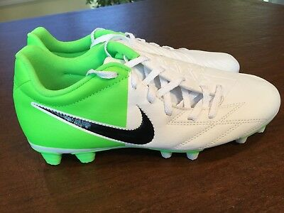 NEW Nike Total 90 T90 Shoot IV FG EURO 2012 Soccer Shoes White Neon Green  Size 0a80b0ded7a1