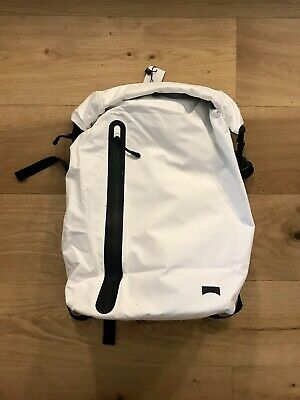 "3f3088cee9e5 Camper White Roll-top Backpack ""Waterpack"" Water Resistant Fabric Sealed  Zipper"