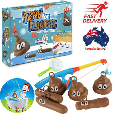 Fishing For Floaties Floaters Novelty Poo Game Kids Bath Playing Time Fun Water