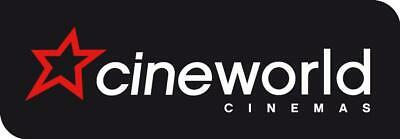 1 Adult Cineworld 2D Tickets eCodes, exp Jan 20, worth up to £11.70