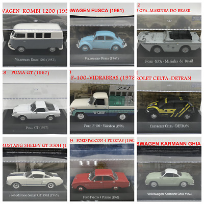 3pcs Suit 1/43 Scale IXO Diecast Toy Car Models VOLKSWAGEN &FORD &CHEVROLET