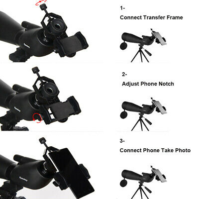 Universal Cell Phone Telescope Adapter Holder Mount Bracket Spotting Scope RIM