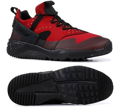 new style 5d3e6 9c010 New Men s Nike Air Huarache Utility 806807-600 Gym Red Black Sz 11