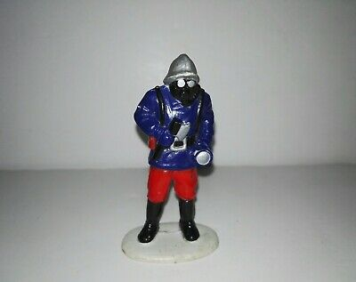 Old PVC figure Fireman with flashlight and Anti-Gas Mask