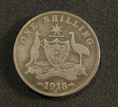 1918 Australian Shilling - Good Condition - Lovely Example
