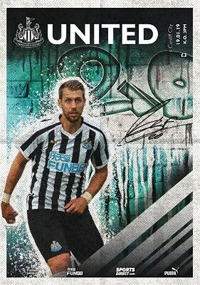 2018/19 Newcastle United V Cardiff City & Official Colour Team Sheet