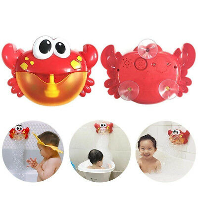 Bubble Machine Tub Big Crab Automatic Bubble Maker 24 Music Song Bath Toy Gifts