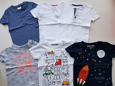 Baby Boys Summer Spring Clothes T-shirts Bundle 12-18 months Next Mothercar F&F