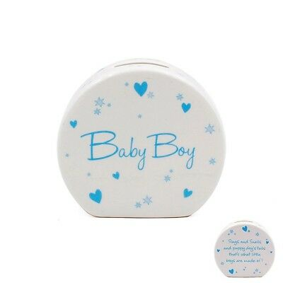 Baby Boy Or Girl Money Box Gift (Blue Or Pink)