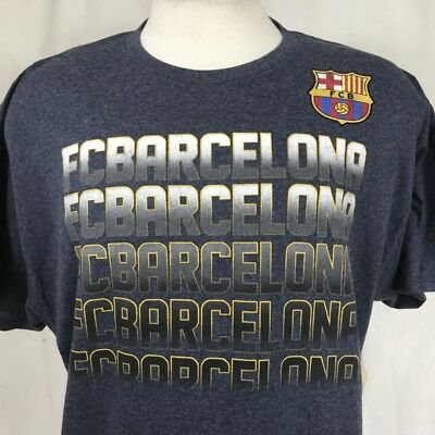 e6a7cabf6 FC Barcelona Football Club Soccer T Shirt Men Size XL Futbol Grey Gray FCB  Barca
