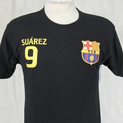 6e525453b FCB Barcelona  9 Suarez Soccer Mens Medium T-Shirt Black Football Futbol  Barca