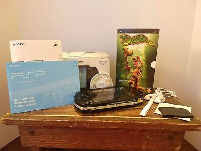 Sony PSP 1001 Black Handheld System FOR PARTS OR REPAIR - Daxter Game