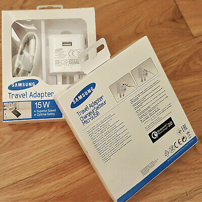 Genuine Fast Charger Plug & Cable For Samsung Galaxy S6 S7 Edge Note 5 4 lot