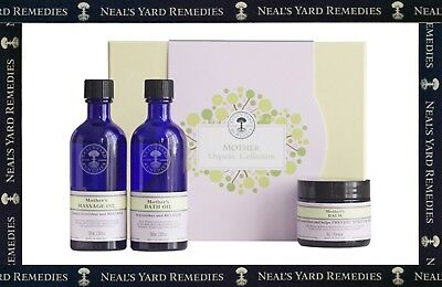 Neal's Yard Mother Organic Collection Gift Set Bath Oil Massage Oil Mothers Balm