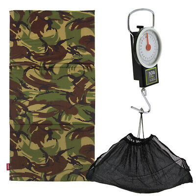 Carp Care Fishing Camo DPM Folding Unhooking Landing Mat Set With Scale & Sling