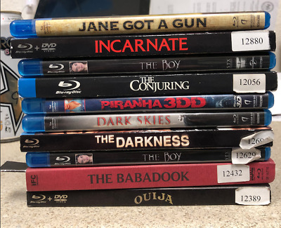 Lot 10 Blu Ray The Boy   Ouija  Conjuring Babadook