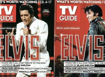 LOT OF 2 TWO ELVIS PRESLEY 2019 TV GUIDE 50th Anniversary BRAND NEW