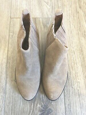 1e0b5ef69caf New Jeffrey Campbell Metcalf Tan Taupe Suede Low Heel Ankle Bootie Size 6.5