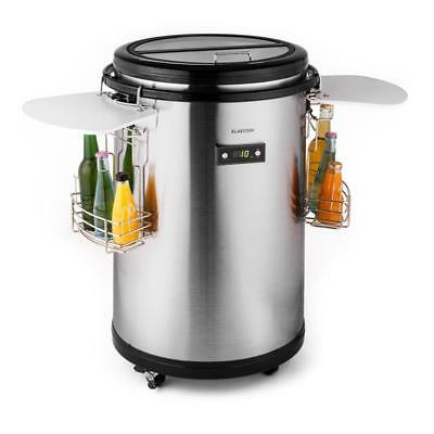 50 LITER DRINK COOLER PORTABLE PARTY FRIDGE w. HANDLES & RACKS - STAINLESS STEEL