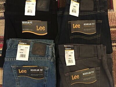 Lee Jeans Men's Regular Fit, Multiple Colors and Sizes, NWT