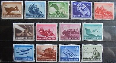GERMANY THIRD REICH 1944 Armed Forces & Heroes Day Complete Set of 13 MNH