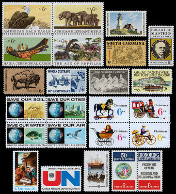 United States Scott 1387-1422 (1970) Mint NH VF Complete Year Set