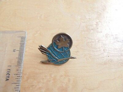 Vintage Enamel Air Canada Goose Maple Leaf Pin Badge.