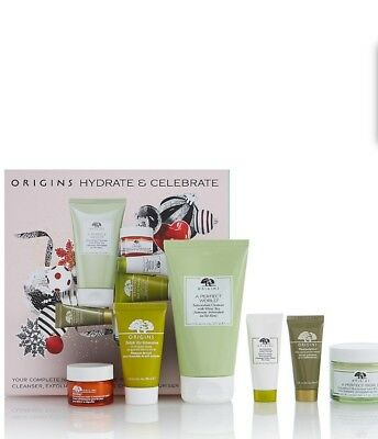 Origins Hydrate and Celebrate Gift Set Includes A Perfect World Moisturiser 50ml