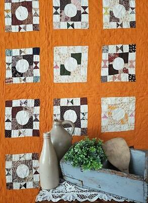 Never Washed Early c1870 Antique Deep Rich Cheddar QUILT 92x74